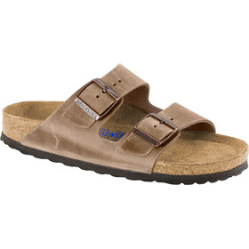 Birkenstock Arizona Soft Footbed Sandals Oiled Nubuck Leather Narrow tabacco brown